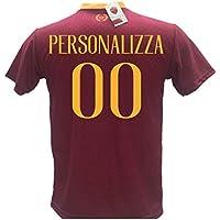 Maglia Calcio Roma Personalizzabile Replica Autorizzata 2018-2019 Taglie da Bambino e Adulto. Personalizza con Il Tuo Nome o del Tuo Giocatore Preferito. (S (Adulto))