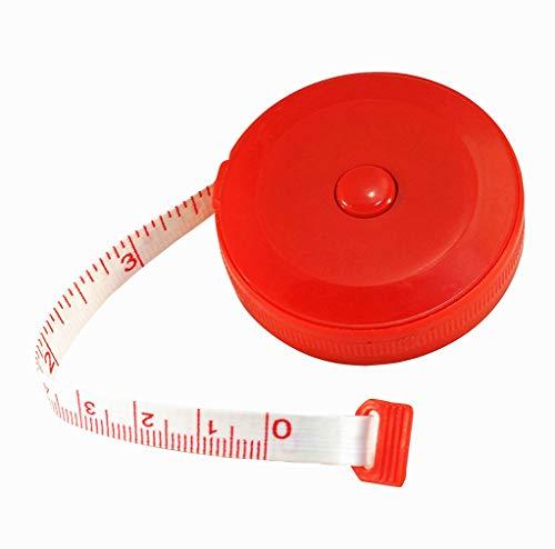 1 Stück Einziehbar Maßband Rot 60 Zoll 150cm Flexibel weich Tuch Schneider-Lineal Doppelseitig Körpermessung Nähen Medizinisch Handwerk Maßband Von SamGreatWorld