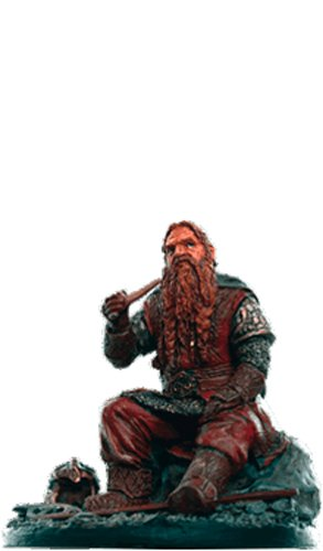Lord of the Rings Señor de los Anillos Figurine Collection Nº 153 Gimli 1