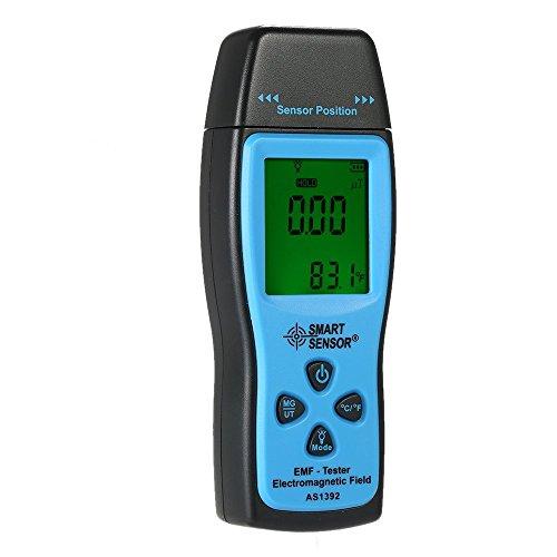 KKmoon Tragbar Mini Digital EMF Messgeräte mit LCD Anzeige, EMF Tester Elektromagnetische Strahlung Detektor Meter Dosimeter Tester Zähler, °C / °FTemperatur Messen Datenhaltung Schall Licht Alarm
