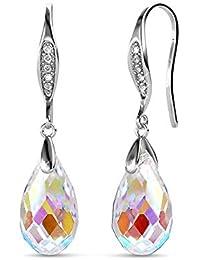 9669e8bb9e45 YOURDORA Pendientes Colgantes de Plata de ley 925 para Mujer con Aurore  Boreale Cristal de Swarovski