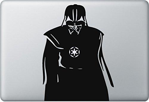 Darth Vader Aufkleber MacBook Air Pro Sticker Decal Apple Star Wars (Schwarz)