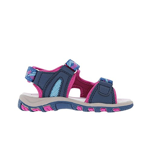 Lico Luca V, Sandales  Bout ouvert fille Blau (MARINE/PINK/TUERKIS)
