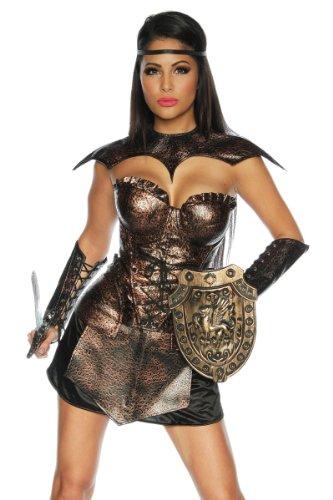 Traumhaftes Gladiator-Kostüm Römerin Karneval Mottoparty Kleid Fasching Gr34-42, Größe:XS