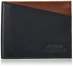 Flying Machine Navy Brown Mens Wallet (FMAW0235)