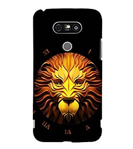 FIOBS craft art of lions face Designer Back Case Cover for LG G5 :: LG G5 Dual H860N :: LG G5 Speed H858 H850 VS987 H820 LS992 H830 US992