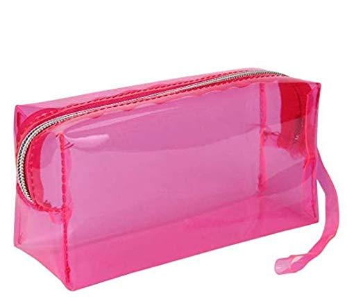 Reißverschluss-kasten (Große Klar Kugelschreiber Bleistift-Beutel-Reißverschluss Kosmetik Gelee-Bleistift-Kasten-Schule-Briefpapier Students Werkzeugtasche (pink))