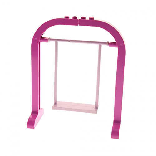 Helle Sitz (1 x Lego System Belville Schaukel Sitz hell pink Stützen Ständer pink rosa Swing Set 6547 5870 2555 6199 6200)