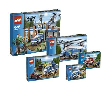 Preisvergleich Produktbild LEGO City Forstpolizei 4436 4437 4439 4440 4441 Super Set