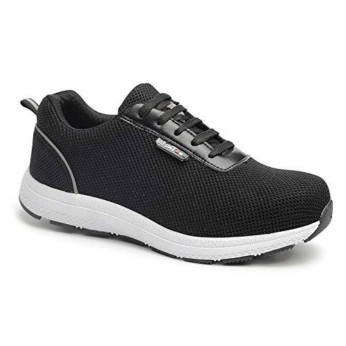 uirend Herren Arbeits Berufsschuhe Industrie Handwerk Schuhe - Stahlkappe Sicherheitsschuhe Sneaker Knöchel Atmungsaktiv Wanderer Stahlsohle Leichtgewichts