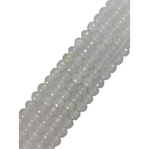AQBEADSUK perle di agata sfaccettato intorno perline pietra preziosa del filo perline Gioielli Esecuzione di 14,5 pollici