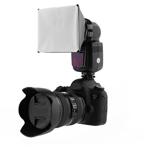 Universal Speedlite Blitz Flash Diffusor Aufsatz Softbox Bouncer für Alle Externe Kompakt Bilitze DSLR Canon Nikon Sony Metz Pentax Fuji Panasonic Minolta Olympus Sigma Nissin Yongnuo (12 x 13cm)