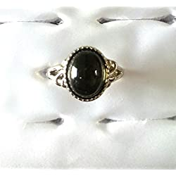 "Shafiqua Silver Tone Black Gemstone Studded Finger Ring For Women And Girls. Available In Many Colors. Search ""Shafiqua "" in the search bar above to view our Exclusive collection."