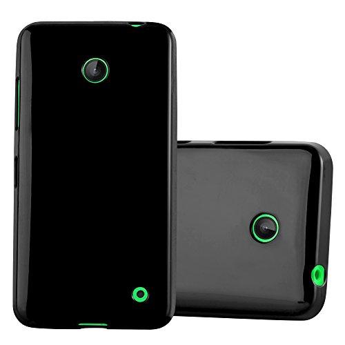 Preisvergleich Produktbild Cadorabo Hülle für Nokia Lumia 630 / 635 - Hülle in Jelly SCHWARZ – Handyhülle aus TPU Silikon im Jelly Design - Silikonhülle Schutzhülle Ultra Slim Soft Back Cover Case Bumper
