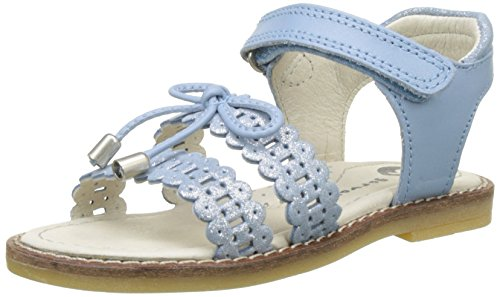 Garvalin Mädchen Sennen Peep-Toe, Bleu (Celeste), 28 EU (Garvalin Schuhe Kinder)