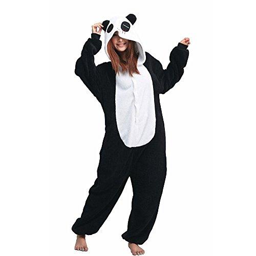 Unicsex Süß Tier Overall Pyjama Jumpsuit Kostüme Schlafanzug Für Kinder / Erwachsene (M, Panda) (Kostüme Erwachsenen Schmutzigen)