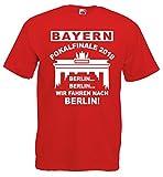 Bayern Pokalfinale 2018 Finale Berlin T-Shirt S-XXXLrot-S