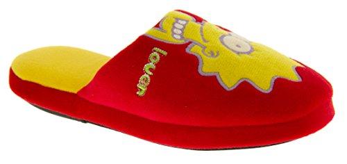 The Simpsons Jungen Mädchen Öffnen Sie Zurück Maultier Pantoffeln Rot