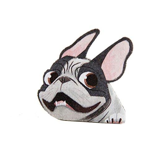 Bulldogge Brosche Abzeichen Niedlich T-Shirt Jacke Oberteile Nähen Patch Tier Abzeichen (Brosche Mops)