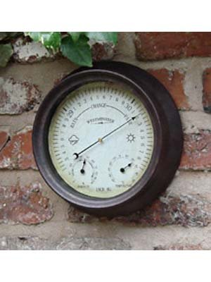 Outside-In Designs Barometer, Antik-Rost-Optik, 21 cm