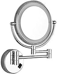 Kosmetikspiegel Lurrose Faltbarer Tisch-Make-up-Spiegel f/ür den Schreibtisch