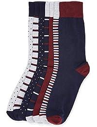 find. Herren Socken 7er-Pack, Mehrfarbig (Stripes and Dot Print), 43.5-47 EU (9.5-12 UK) (Herstellergröße:Large)
