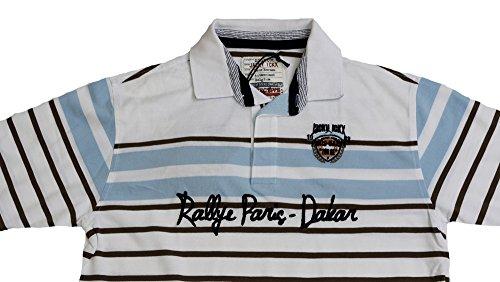 Jacky ICKX Double Black Edicion Polo Shirt Gr. M/T Weiß/Blau