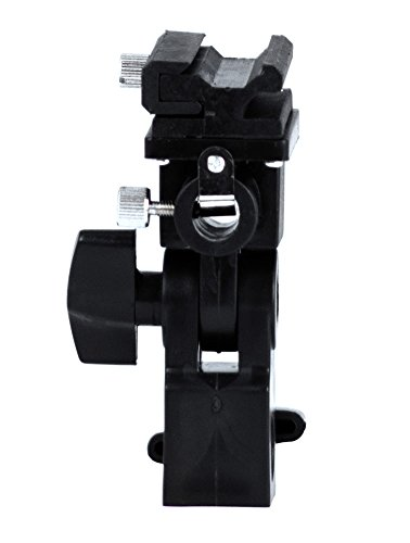 Phot-R P-SFUH-B Typ B Professional Universal-Licht-Standplatz-Schwenker-heiße Schuh-Flash Halterung mit Schirmhalter für Canon und Nikon schwarz