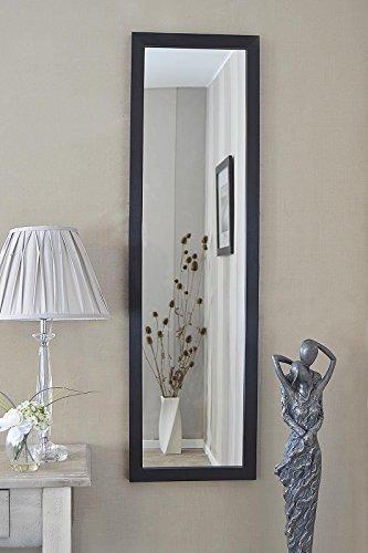 MirrorOutlet Espejo de Pared Grande con diseño contemporáneo, Color Negro, 130 cm x 38 cm