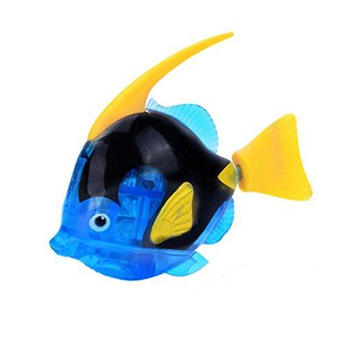 thome Schwimmende Roboter-Fische aktiviert im Wasser-magischen elektronischen Spielzeug-Kindergeschenk-Spielzeug (Dunkelblau) (Roboter-fisch)