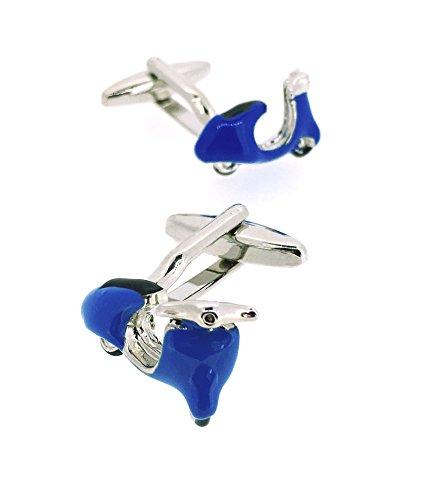 Gemelos para Camisas Moto Lambretta - Vespa Azul