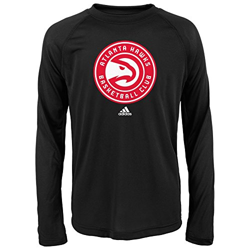 NBA Jungen Youth Full Primary Logo Performance Long Sleeve Tee, Jugendliche Jungen, schwarz, X-Large (18 US) -