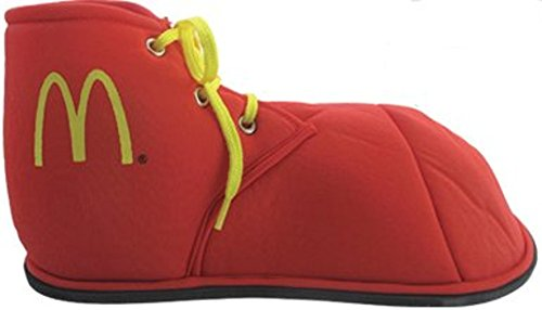 Mcdonald Clown Ronald Kostüm - McDonalds Kostüm Clown Red M Logo Ronald McDonald Stoff Kinderschuhen
