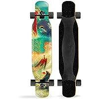 AYYSHOP Freestyle Longboard Skateboard Skateboards 46 Pulgadas Cruiser Baile Skateboard Longboard Cruiser Al Aire Libre para Deportes para Niños Adultos Principiantes Niñas Niños,I