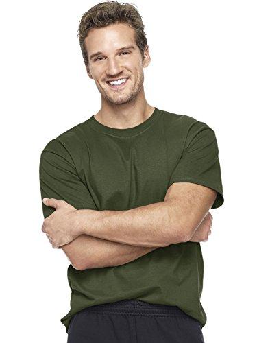 hanes-t-shirt-de-beefy-a-manches-courtes-pour-homme-vert-large