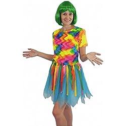 Krause & Sohn Costume Bird of Paradise, Taille M, Mesdames Oiseaux colorés Robe Samba Carnaval de Rio