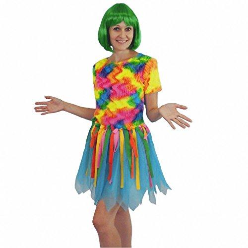 Costume Bird of Paradise, taille M, Mesdames oiseaux colorés robe Samba Carnaval de Rio