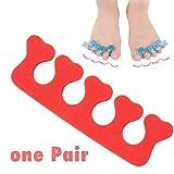 WEIHAN 20 Par Espuma Separador del dedo del pie Nail Art Cuidado de los pies Brazalete Soporte Toe Separadores de los dedos Herramientas Pendicure Suave Material de EVA