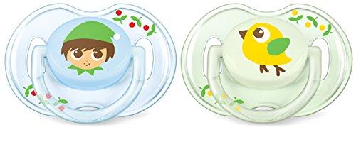 Preisvergleich Produktbild Philips Avent Klassik Design Schnuller 0-6 Monate SCF169/45, Doppelpack, Jungen, Junge/Vogel
