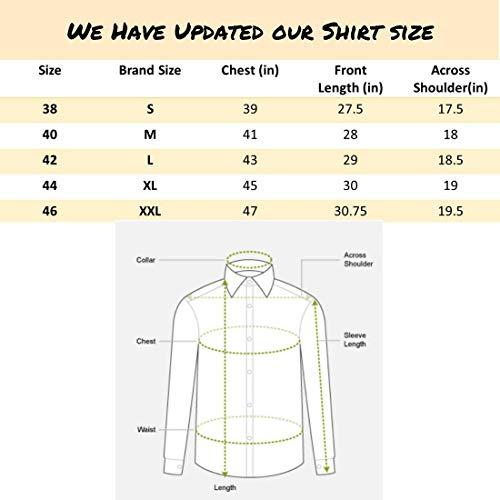 Dennis Lingo Men's Solid Slim Fit Casual Shirt (AZ301_White_L)