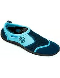 AQUA-SPEED® Aqua Chaussures 14 (Unisexe Tractioned Plongée Piscine Kayak + UP®-Porte-clés)