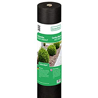 GardenMate Malla geotextil 50 g/m² – Geotextil para jardín – Estabilizada contra UV – 1mx50m=50m²
