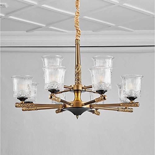 Schwarz Vier-licht Kronleuchter (ZENWEN Kronleuchter Led Pendelleuchte Lampe 8 + 4-Kopf Anhänger schwarz Kupfer Zink Legierung Europäischen Kronleuchter)