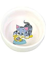 Trixie Cat Cermaic Bowl, 300 ml/ø 11 cm, Dishwasher Suitable