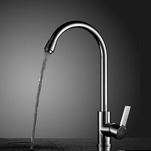 Auralum® rubinetto miscelatore canna alta lavello monocomando ottone miscelatori acqua fredda e calda per cucina
