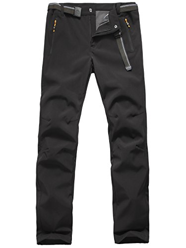 The Haines Men's Waterproof Windproof Trousers offer a good fit when walking, climbing or even cycling. The comfortable waterproof pants are designed in various colours and sizes giving you the freedom to select as you wish. They are made of polyester with a fleece lining which then gives durability and waterproof abilities.