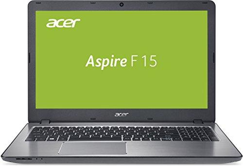 Acer Aspire F 15 F5-573G-75F6 39,6 cm (15,6 Zoll FHD Display) Notebook (Intel core i3-7500U, 4 GB RAM, Intel@HD Graphics 620 , 128 GB SSD, Win 10 Home, QWERTY (NL Tastatur)) silber DE