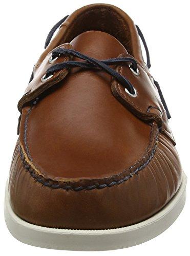 Sebago Spinnaker Herren Bootsschuhe Brown (Cognac Lea/Navy)