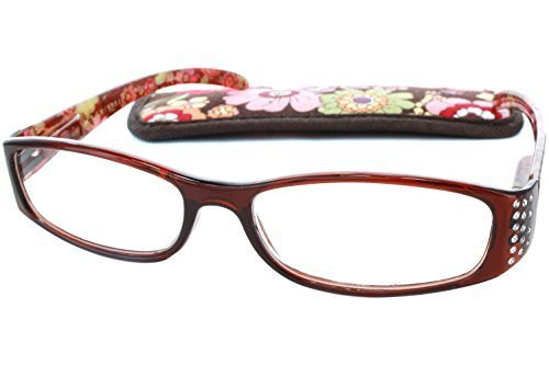 9bf10552a5c3 Foster Grant Magnivision Women Readin Glasses Floral Ashley Brn +2.50 by Foster  Grant