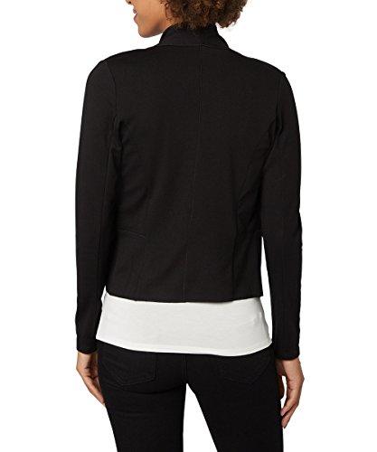 zero Damen Cardigan Cara mit Schalkragen 663389 Black